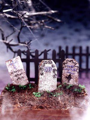 tombstone brownies | halloween inspiration | Pinterest