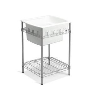 18 Inch Utility Sink : Sterling by Kohler Latitude Utility Sink with Stand in White