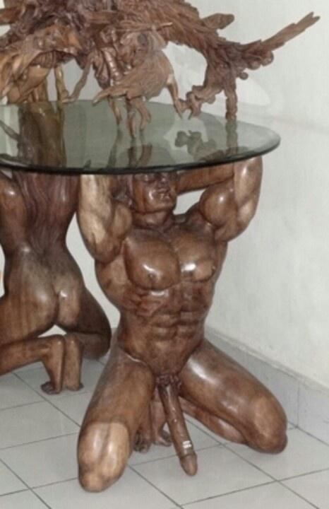 naked man table chuckles pinterest