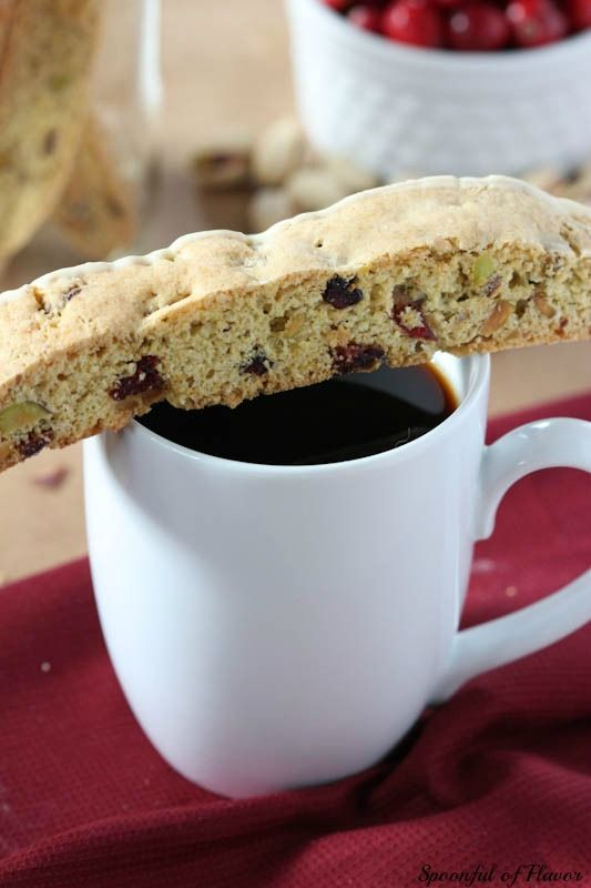 Cranberry Pistachio Biscotti http://www.spoonfulofflavor.com/wp ...