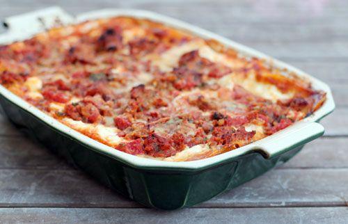 Turkey Sausage Lasagna Recipe — Dishmaps