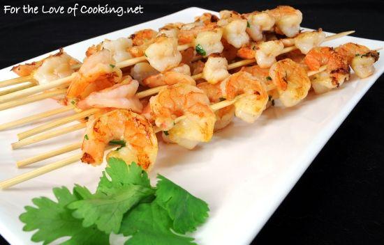 ORANGE-GINGER SHRIMP SKEWERS | Seafood | Pinterest