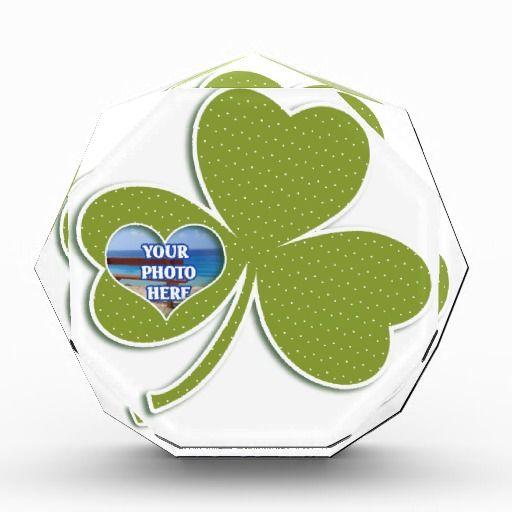 Irish Shamrock Heart Photo Template Awards