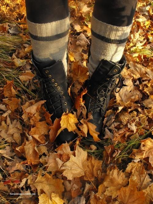The sound of fall leaves crunching beneath your footsteps! <3 I love Fall!