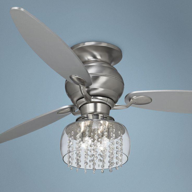 60 spyder hugger crystal strands light kit ceiling fan. Black Bedroom Furniture Sets. Home Design Ideas