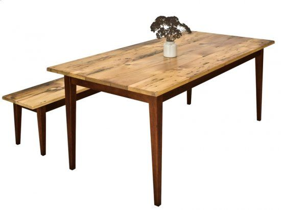 "Reclaimed Barnwood Farm Table With Tapered Legs72"" $1600"