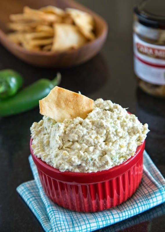 Artichoke Jalapeno Dip: Creamy, a little spicy, and delicious. Great ...