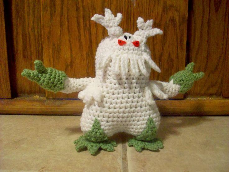 Crochet Patterns Pokemon Characters : Amigurumi Abomasnow, Pokemon Character, Free Pattern here: http ...