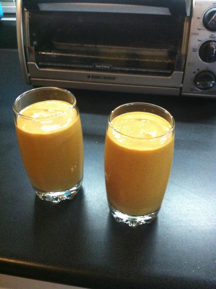 ... cream, almond milk ( or regular milk), squirt of maple syrup, pinch of