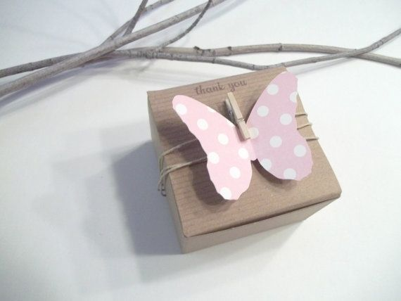 Butterfly Themed Favor Boxes : Butterfly birthday favor boxes baby shower