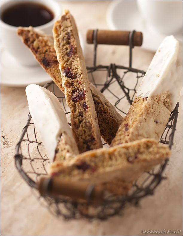 Cranberry Pistachio Biscotti - Twice-baked cookies studded with ...