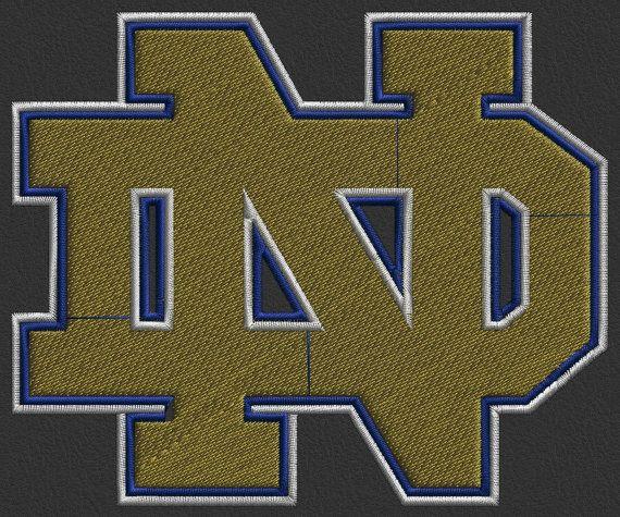 College logo norte machine embroidery design