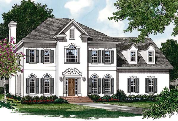 Colonial Traditional House Plan 85457