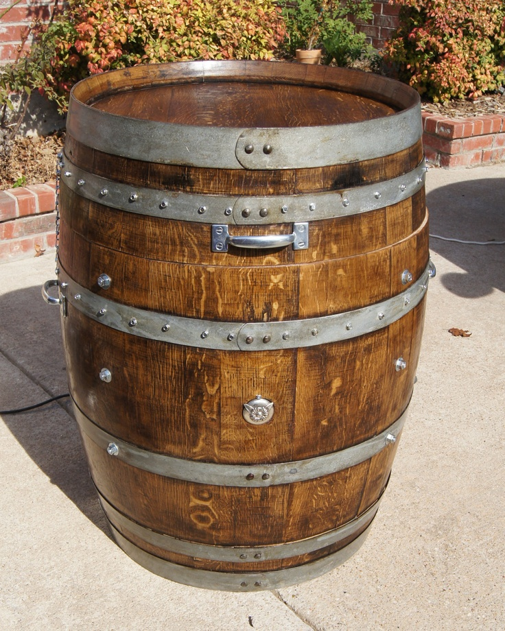 Handcrafted electric smoker made from wine barrel. Pricey yet great ...