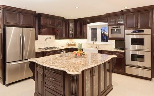 Kitchen  Dark Maple Cabinets  Kitchen Remodel  Pinterest