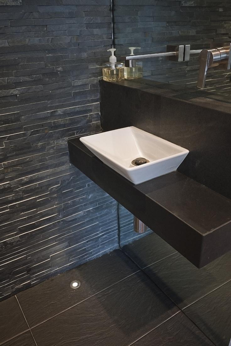 Slate Bathroom Sink : powder room slate sink plinth Bath Pinterest