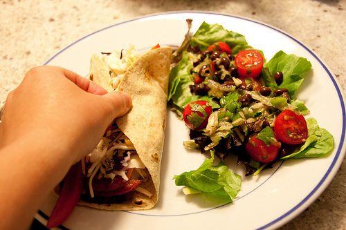 Spicy Black Bean Salad and Shrimp Fajita #HEALTHY DINNER IDEAS
