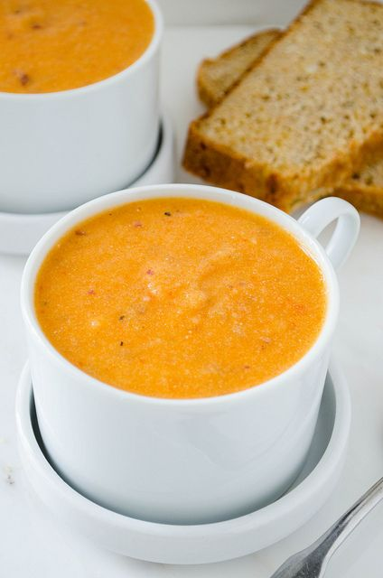 Roasted Red Pepper Potato Soup | cooking ala mel by cookingalamel, via ...