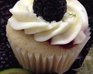 Lime Cake filled with Blackberry Sauce topped with Lime Whipped Cream ...