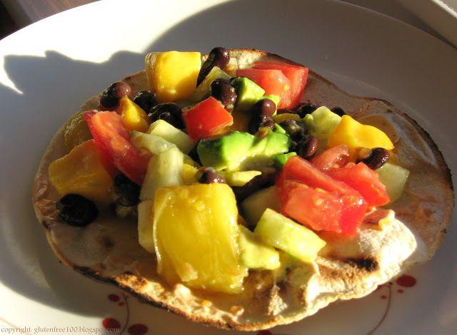 Gluten+Free+Black+Bean++Mango+Grilled+Tostadas+Recipe