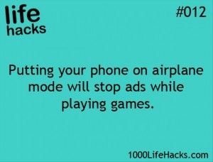 Putting your phone on airplane mode will stop ads while youre playing games