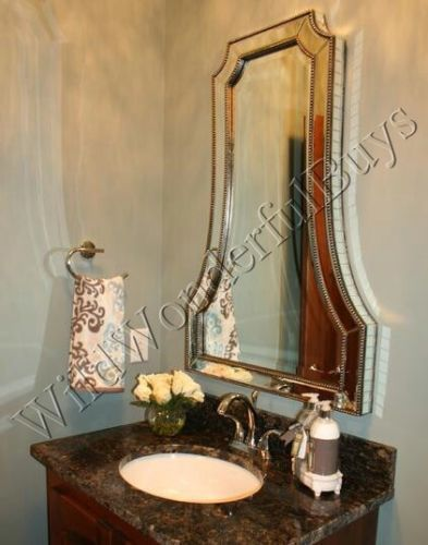 HORCHOW Cattaneo WALL MIRROR Beaded Edge Arched Venetian Large NEW