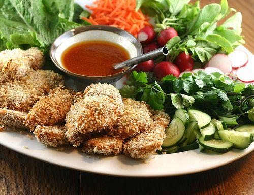 Sriracha Chicken Tender Lettuce Wraps | Food is Comfort | Pinterest
