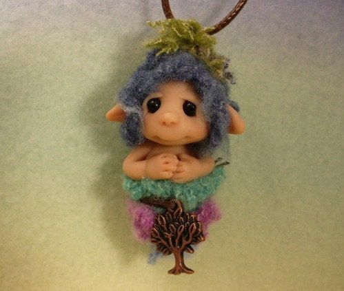 Polymer clay fairies and elves ooak polymer clay nature inspired