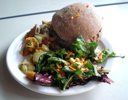 Sourdough Burger Buns, Pinto-Rice Patties, Kale Salad & Roasted ...