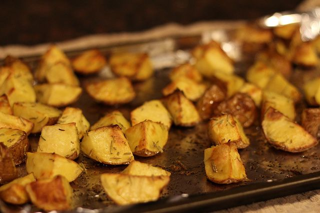Garlic and herb roasted red potatoes you can buy at Kroger and they're ...