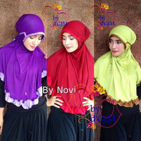 Jilbab kcb jumbo dua warna cantik modern jilbab langsung pakai pi