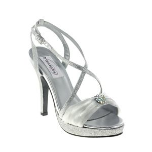 Silver prom shoes | Prom dresses | Prom shoes | Vicki by Dyeables