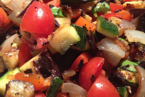 Grilled Ratatouille Salad, the ultimate summer side