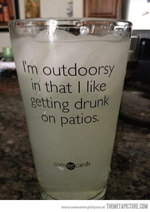 I'm outdoorsy...too cute!