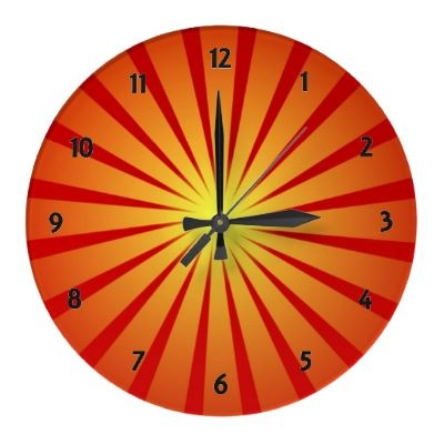 Sun Rays Wall Clock by elenaind