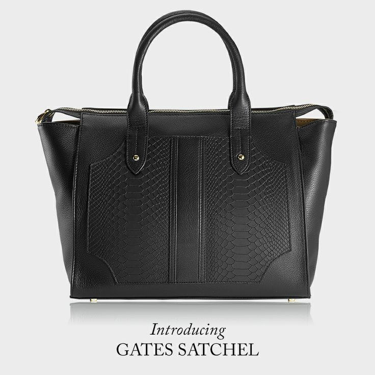 GiGi New York | Elements Of Style Blog | Natural Grain & Embossed Python Leather | The Gates Satchel @Erin Gates
