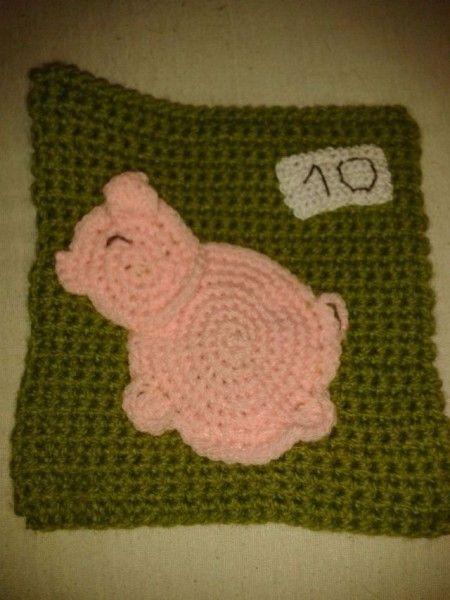 Crochet Quiet Book : crochet quiet book page - piggy bank Crochet Pinterest