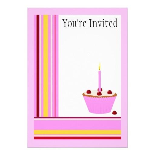 cupcake invitation template