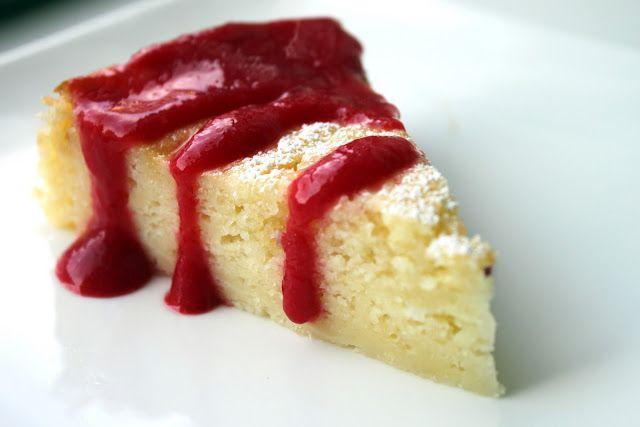 Lime Yogurt Cake w/Raspberry Sauce | cakes | Pinterest