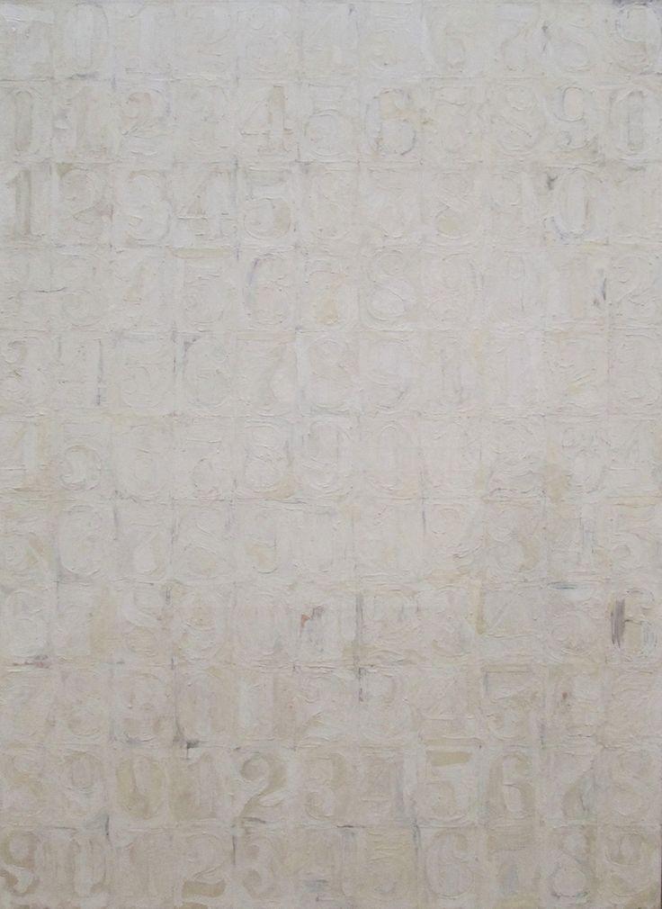 Jasper Johns  Large White Numbers  1958Jasper Johns Numbers White