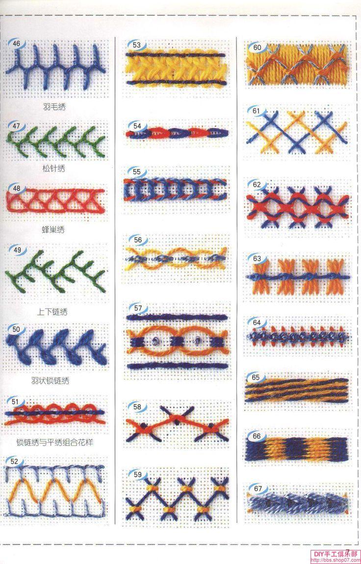 Вышивка из китая стежок