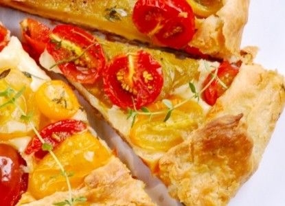 Heirloom Tomato Galette | BBOnline Recipes | Beechwood Inn in Clayton ...