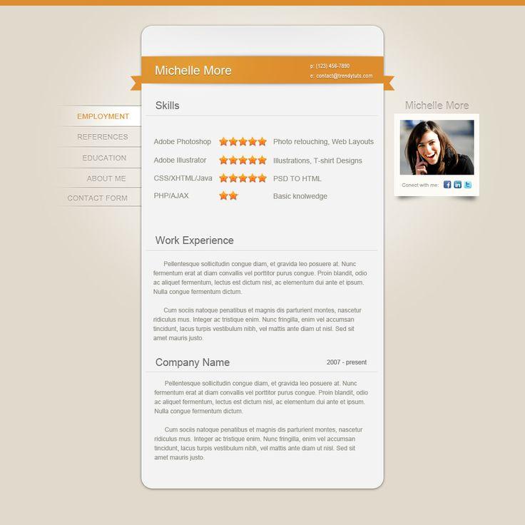Resume webpage design