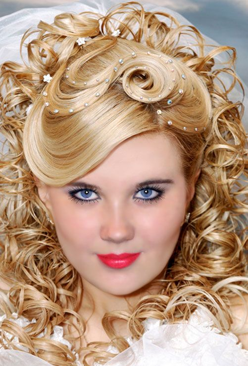 Wedding hairstyles for long hair with full fringe. Short layered ...