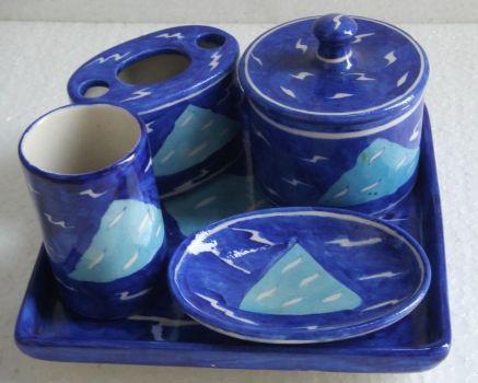 Blue Bathroom Accessories on Shivkripa   Bathroom Accessories In Blue       Blue Blue    Any Shade