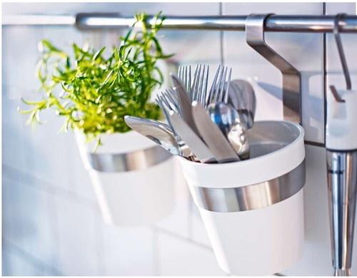 Ikea Flaxa Monteringsanvisning ~ IKEA Cutlery Caddy Plant Pot Flatware Spice Jar Pens Utensil Holder