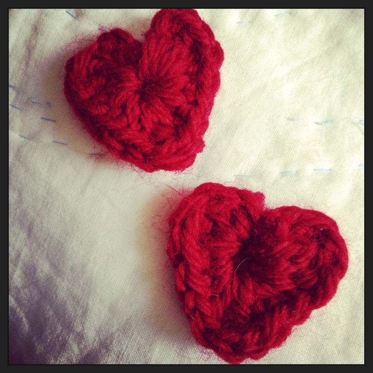 Crochet hearts | Hipstamatic | Pinterest