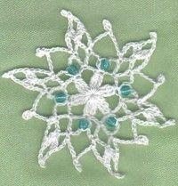 Blue bead crochet snowflake crochet christmas pinterest