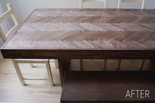 DIY dining room table