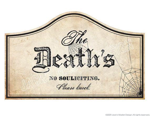 Decorating Ideas > Halloween Deaths Door Sign Printables ~ 045651_Halloween Door Signs Printable